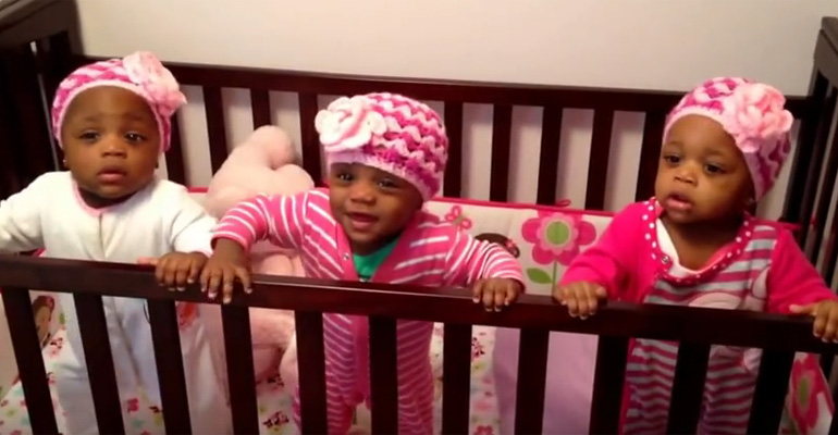 "Adorable Triplet Babies Dance to Pharrell Williams Hit ""Happy""."