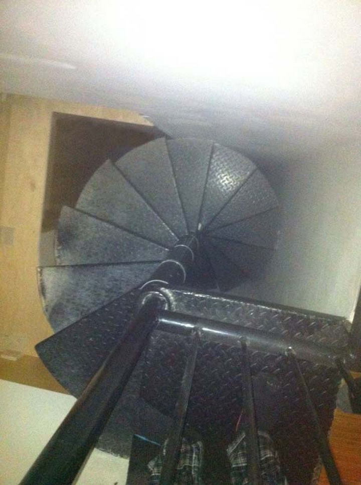 It was a spiral staircase and it seemed to go on forever but eventually led into a wall.