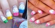 13 cupcake nails deliciously