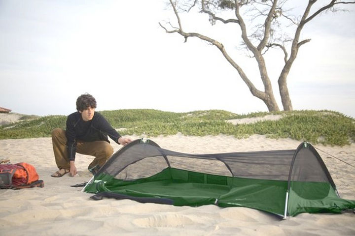 They also can be set up like a normal tent if you find a spot with a soft cover.