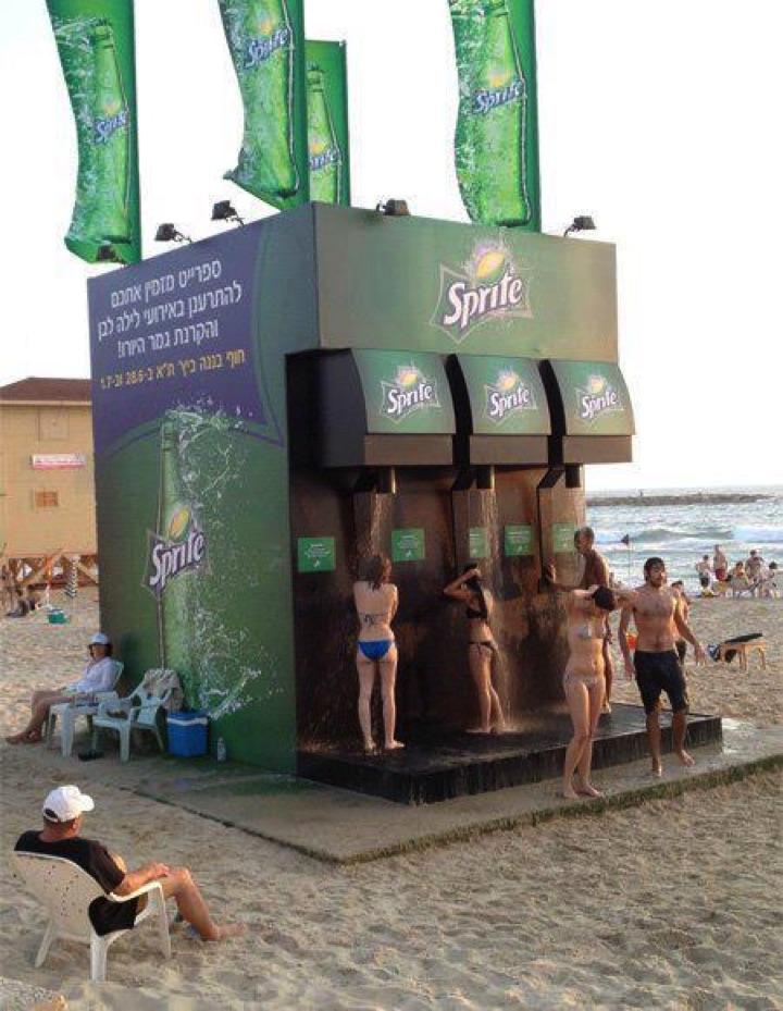 21 Creative Billboard Ads - Enjoy a shower at the beach!