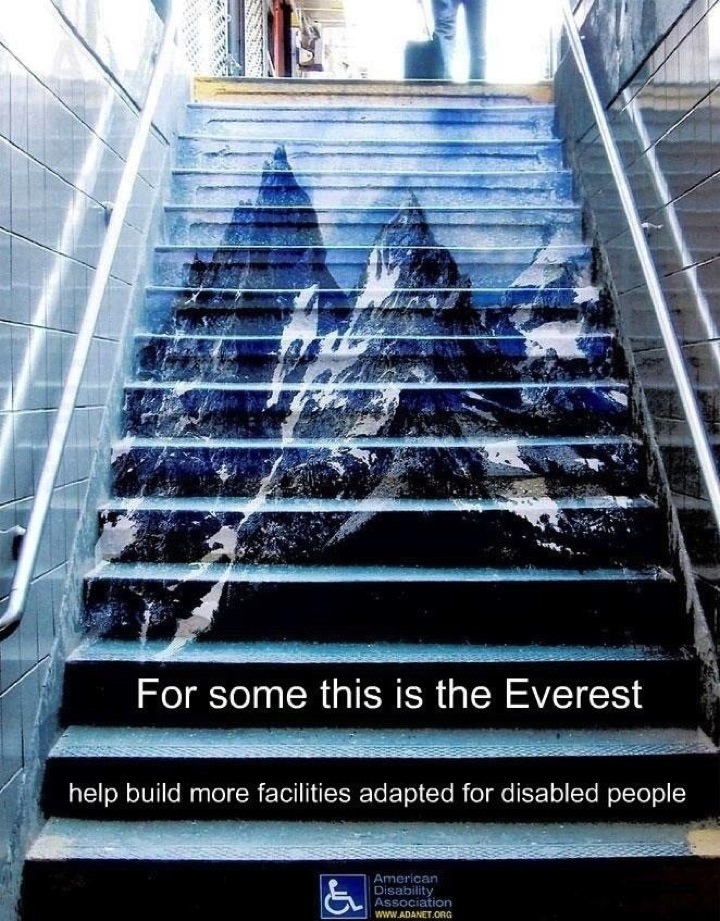 21 Creative Billboard Ads - People with disabilities tackle challenges like these every day.