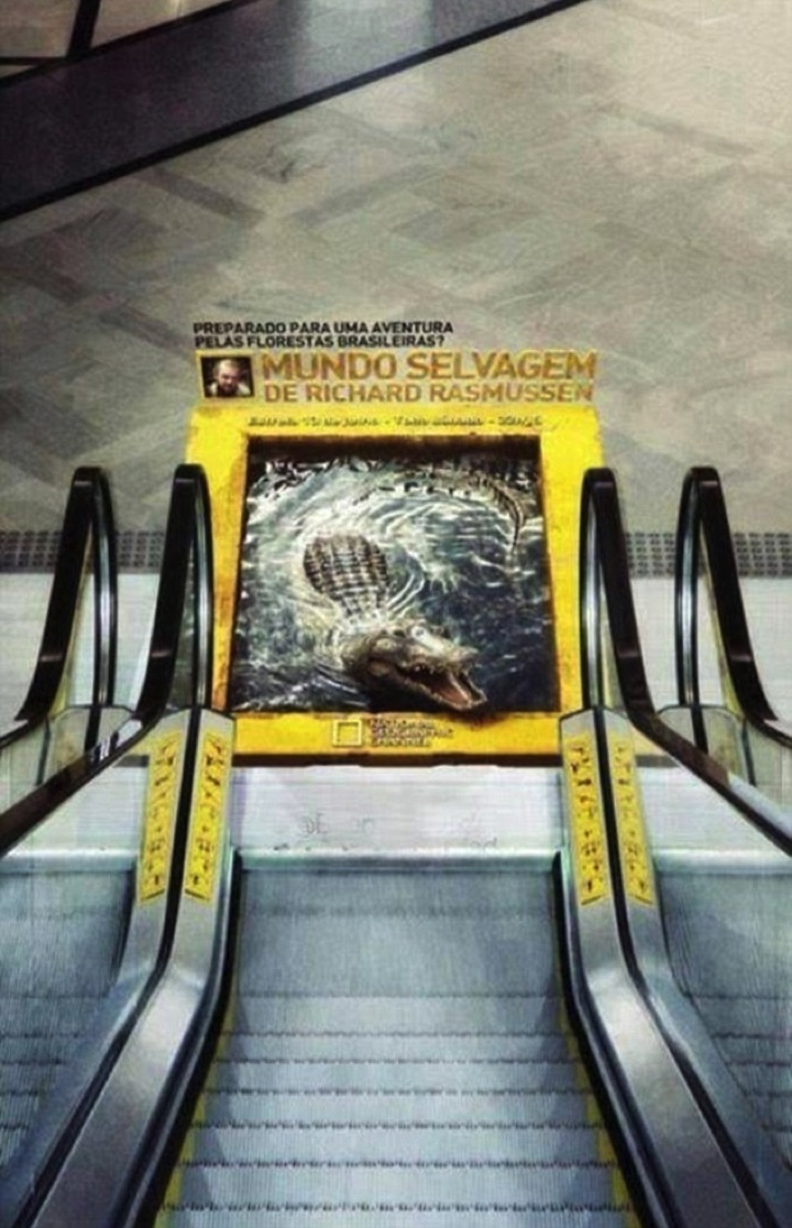 21 Creative Billboard Ads - A scary ad if you are on an escalator.