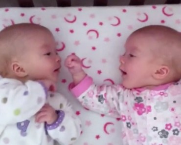 3-Month-Old Identical Twins Interact for the Very First Time.
