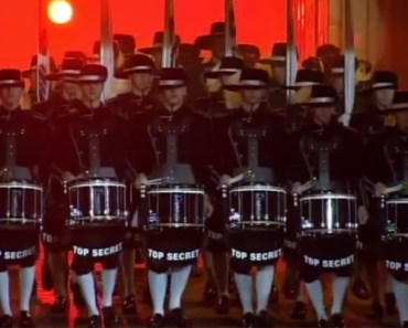 Top Secret Drum Corps Perform at Edinburgh Military Tattoo.