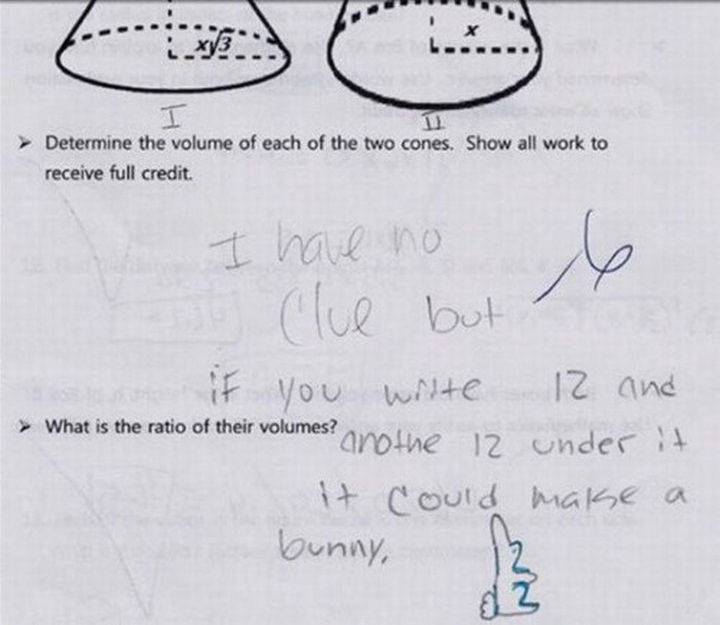 18 Funny Test Answers - When it doubt, write down a brief art lesson.