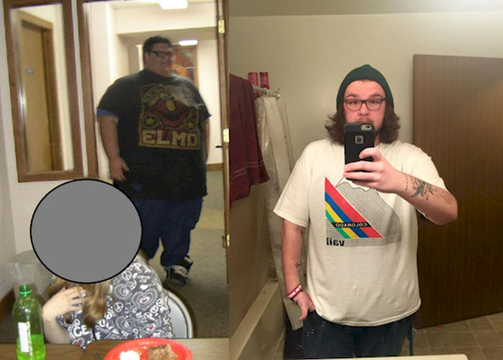 18 Before and After Weight Loss Photos - Reddit user SethIdol started out at 660 lbs wearing 8XL shirts and now weighs 285 lbs. He looks like an entire new person!