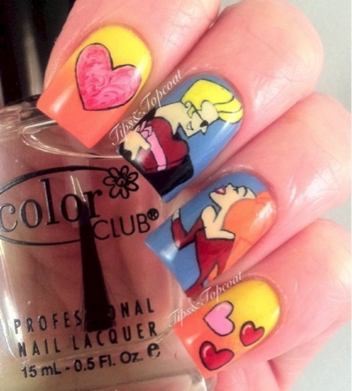 18 Saturday Morning Cartoon Nails - How to get awesome nails, Johnny Bravo style!