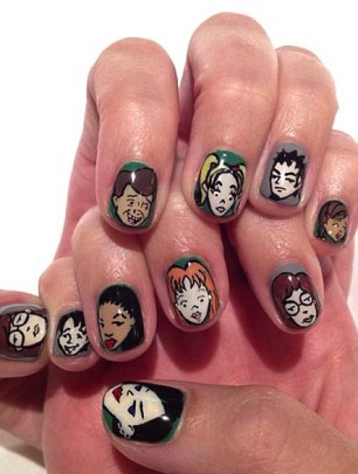 18 Saturday Morning Cartoon Nails - Even Katy Perry can't get enough of her Daria nails!