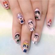 saturday morning cartoon nails
