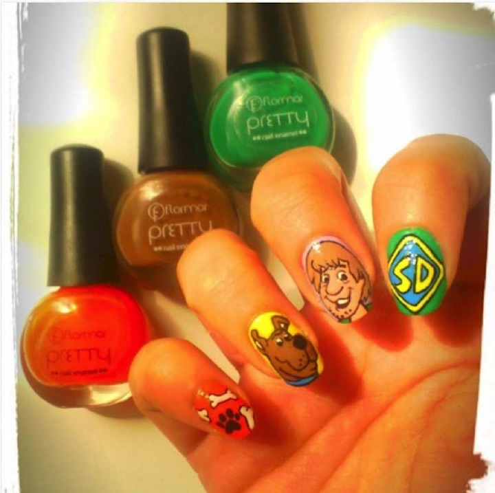 18 Saturday Morning Cartoon Nails - Scooby Doo, there you are!