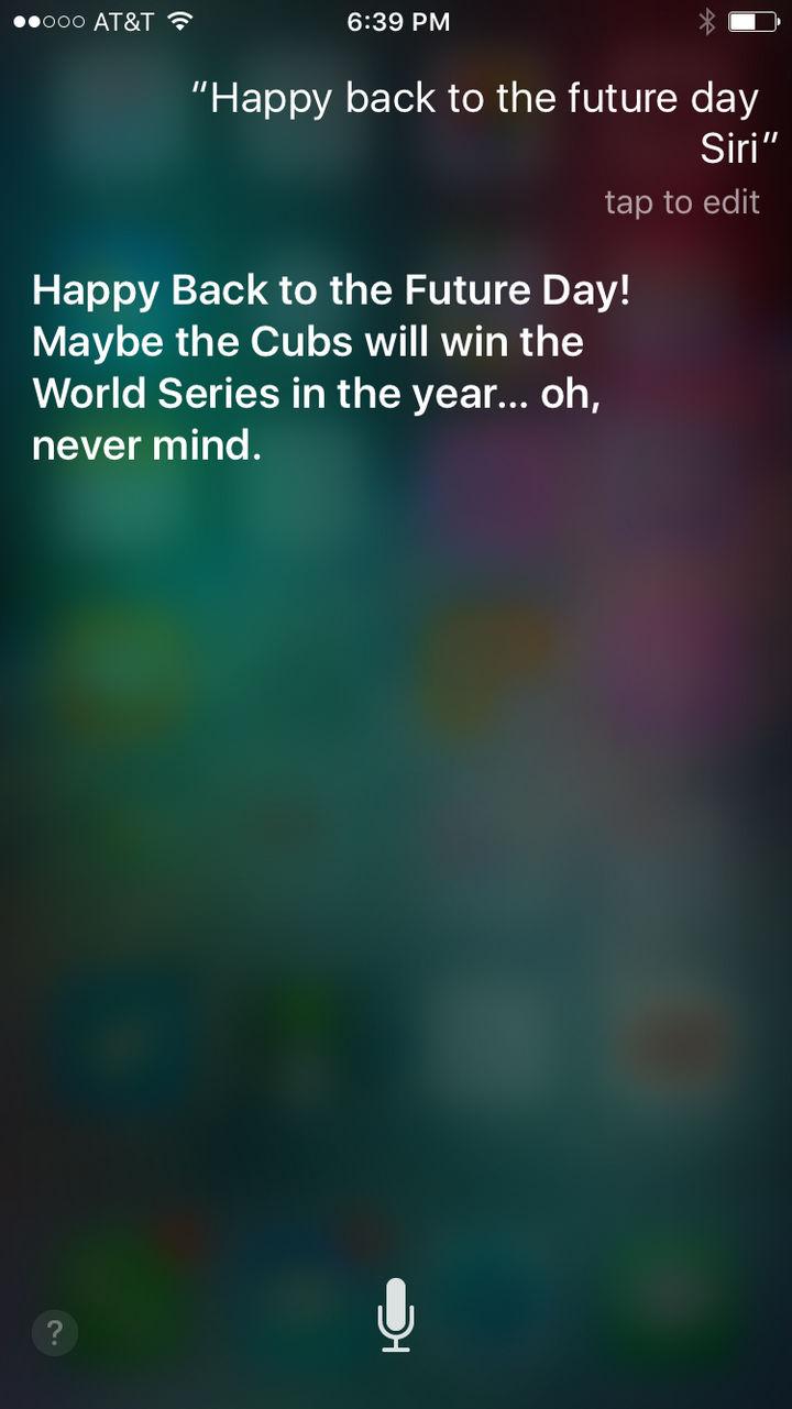 Siri the jokester.