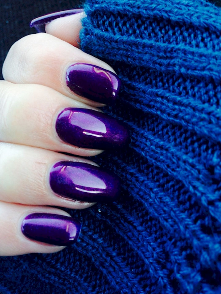 22 Purple Nail Designs - A gorgeous shade of purple.