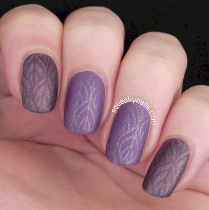 22 Purple Nail Designs - These nails speak for themselves.