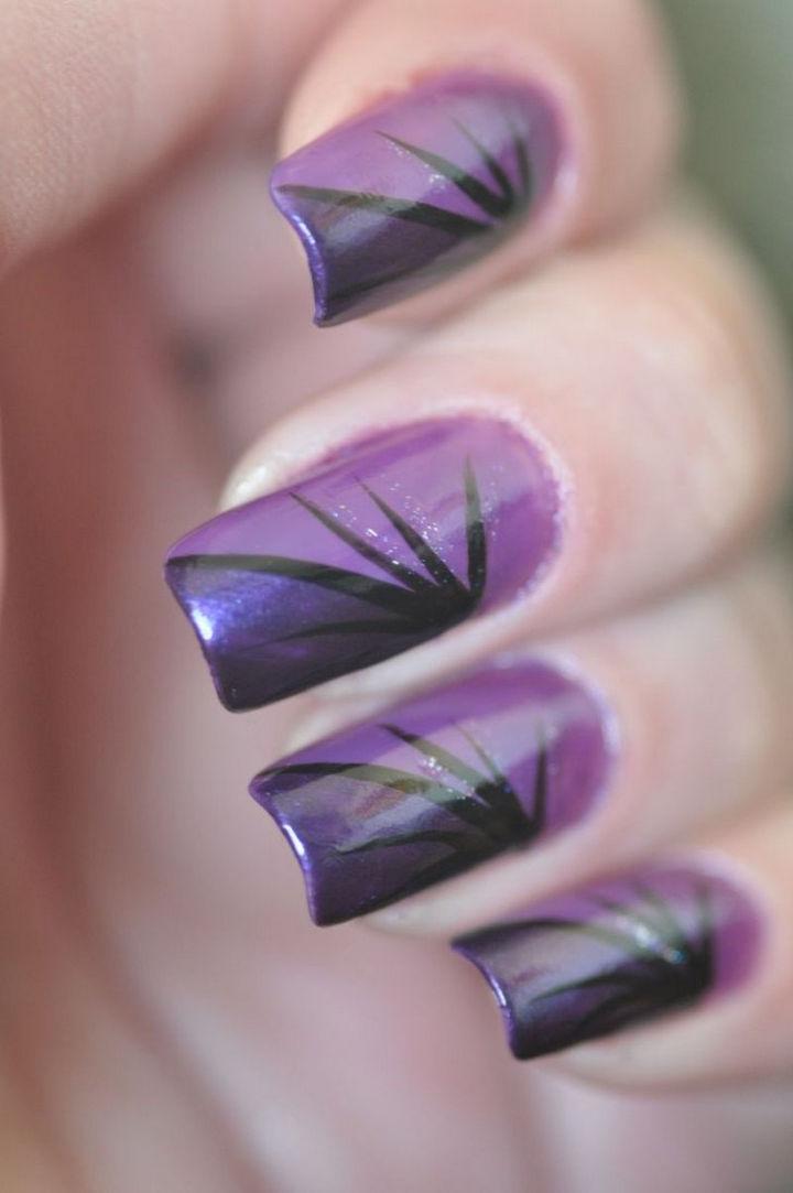 22 Purple Nail Designs - A striking design.