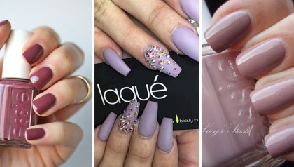 17 Extravagant Mauve Nail Manicures You Are Going to Love. #14 Is Beautiful! - 17 Cotton Candy Nails And Manicures That Look So Sweet