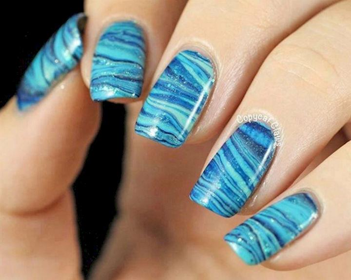 18 Ice Blue Nails - A winter ice wonderland.