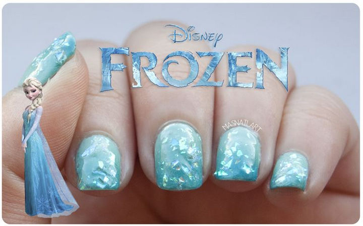 39 Winter Nails - Frozen nails so pretty even Elsa would approve.