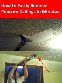 How To Remove Popcorn Ceilings in Less than 10 Minutes!