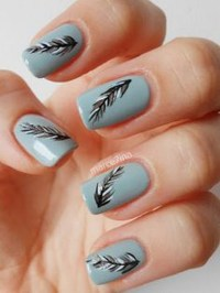 18 Feather Nail Art Designs That Look Amazing
