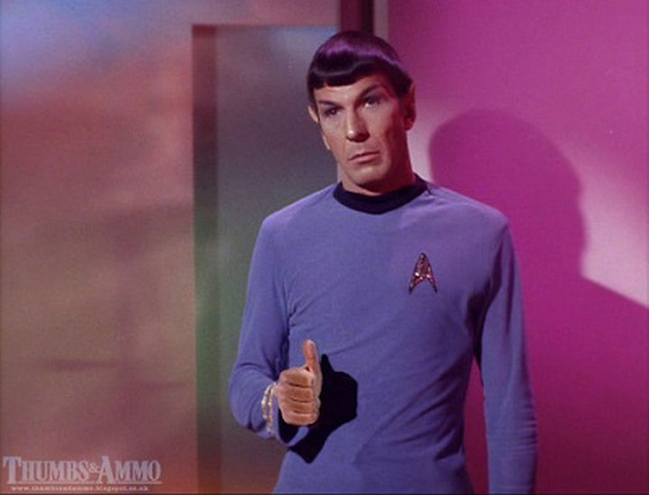 23 Movie Action Scenes Where Guns Were Replaced with a Thumbs-Up - 'Star Trek'