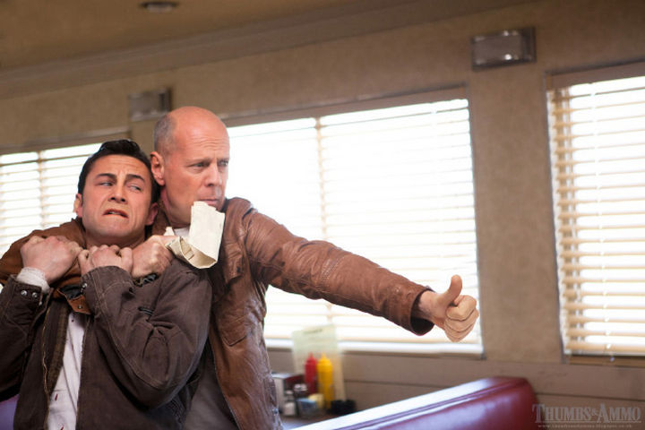 23 Movie Action Scenes Where Guns Were Replaced with a Thumbs-Up - 'Looper'