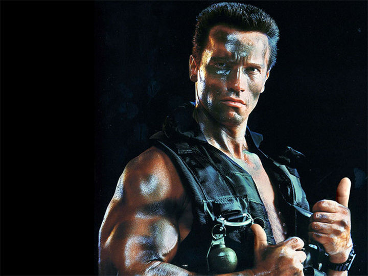 23 Movie Action Scenes Where Guns Were Replaced with a Thumbs-Up - 'Commando'