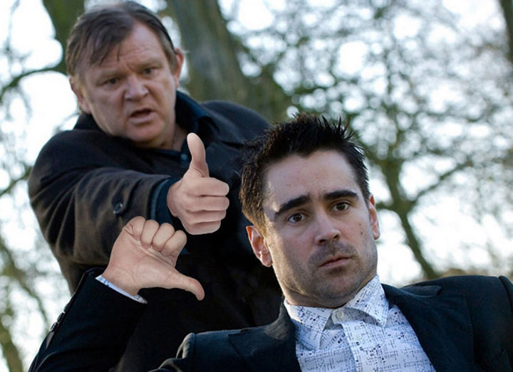 23 Movie Action Scenes Where Guns Were Replaced with a Thumbs-Up - 'In Bruges'