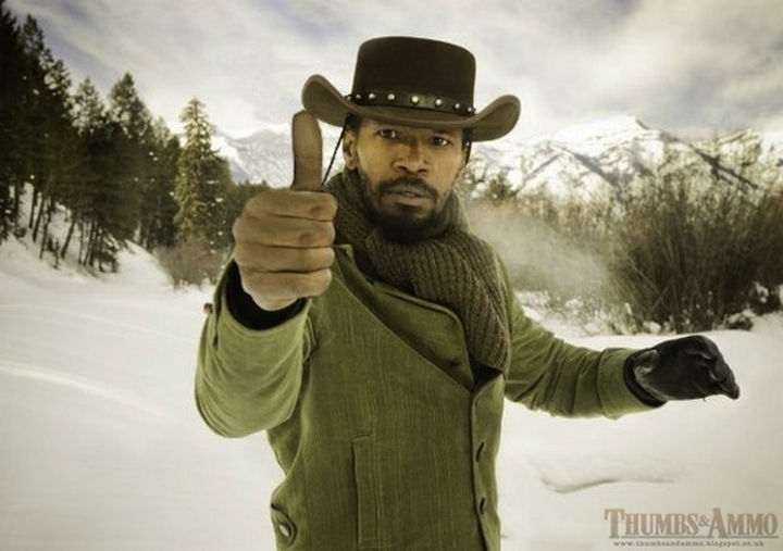 23 Movie Action Scenes Where Guns Were Replaced with a Thumbs-Up - 'Django Unchained'