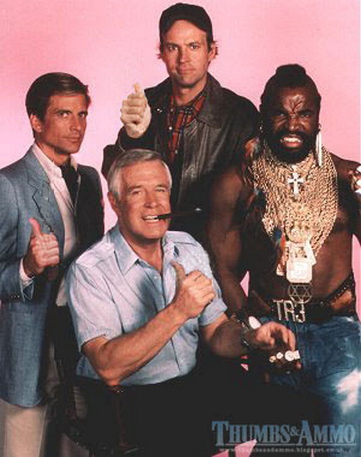 23 Movie Action Scenes Where Guns Were Replaced with a Thumbs-Up - 'The A-Team'