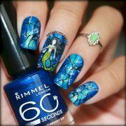 mermaid nails beautiful