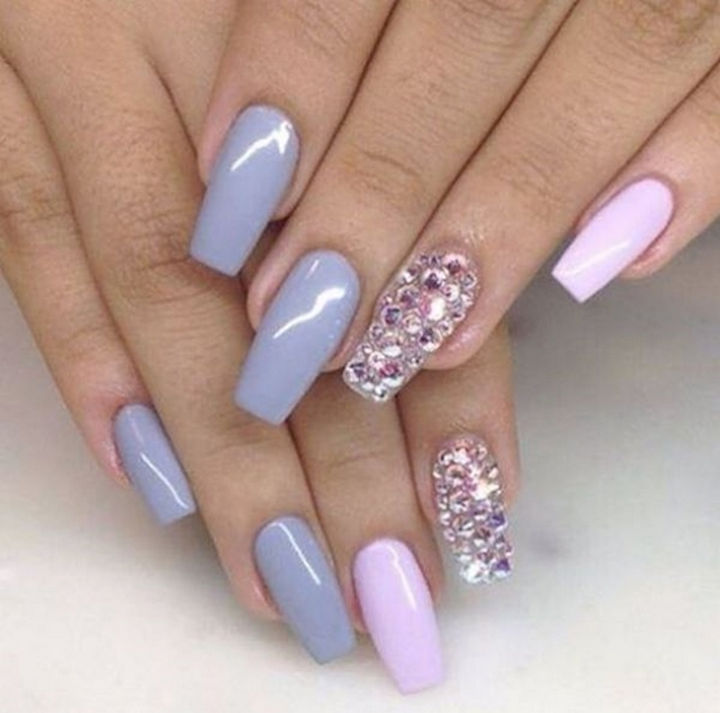 18 Spring Nails - Beautiful orchid shades with pink accents.