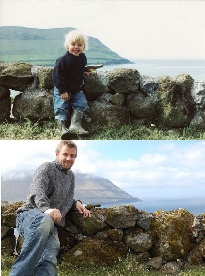 23 Then Now Photos - Still a great pose 23 years later.