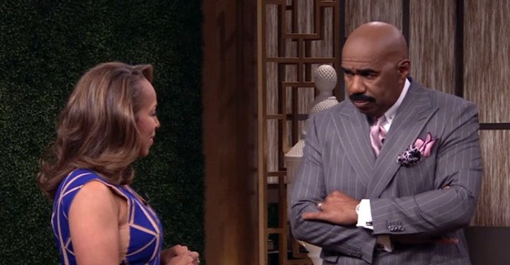 Steve Harvey Gives Emotional Tribute to His Wife on His Show.