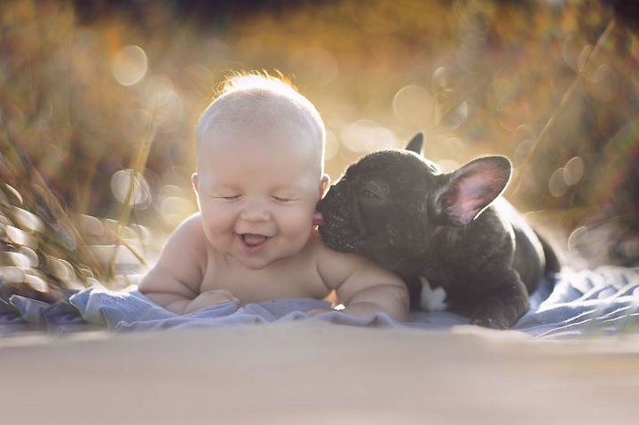 33 Adorable Photos of Dogs and Babies - Adorably part of the family.