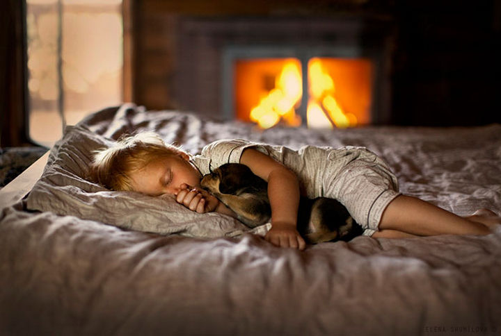 33 Adorable Photos of Dogs and Babies - Sleeping buddy.
