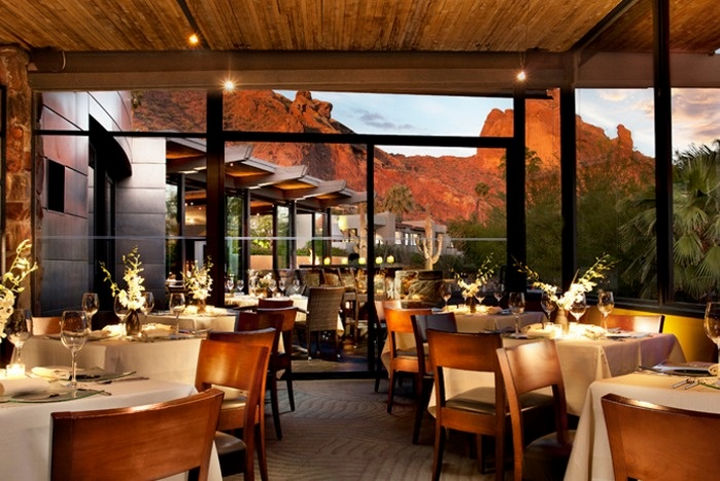 39 Amazing Restaurants With a View - Elements in Scottsdale, Arizona, USA.