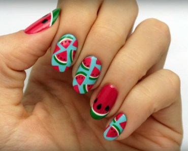 How to Create Cute Watermelon Nails This Summer!