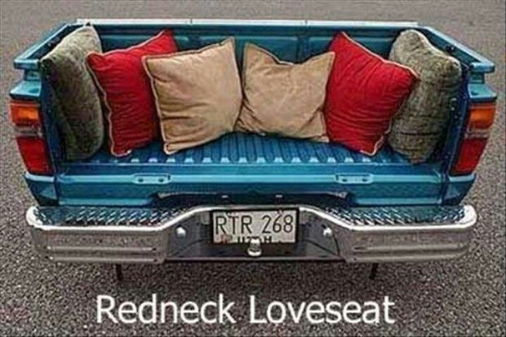 18 Funny Life Hacks - Transform that old truck bed into a unique loveseat.