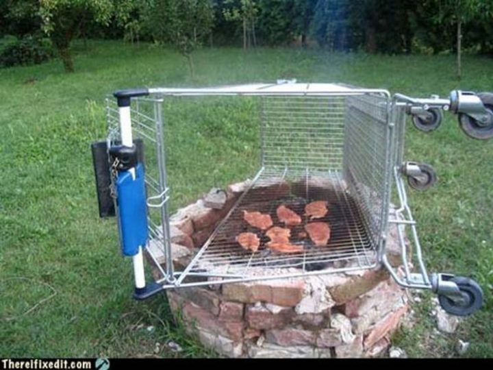 """20 Hilarious Ways Men Can Fix Anything - """"We need to grill some steaks? I can fix that!"""""""