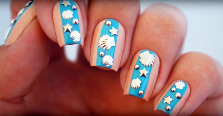 Create Easy Beach Nails in Only Five Steps This Summer.