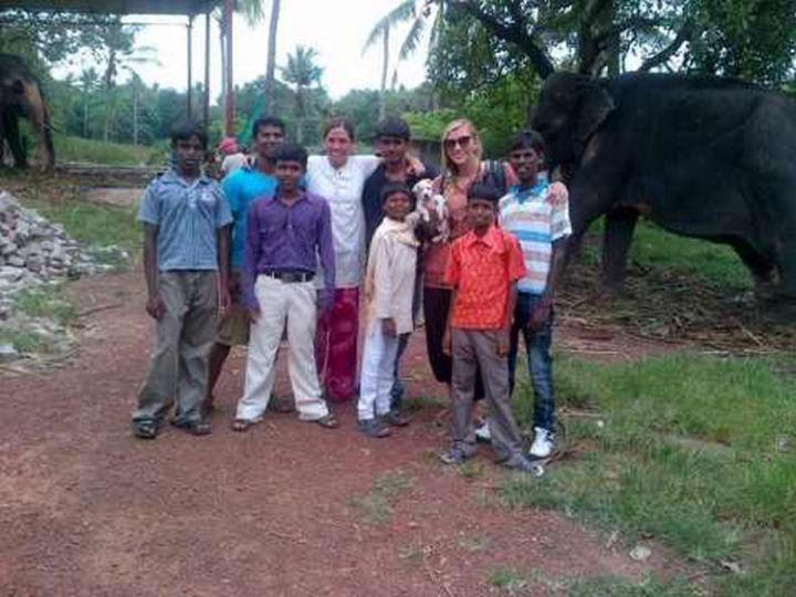 He got a chance to meet elephants and made friends everywhere he went.