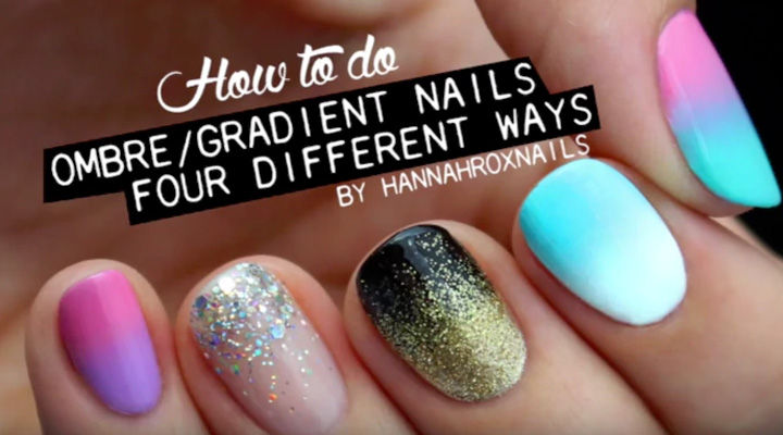 17 Gradient Nails - Four terrific gradient styles that all look great!