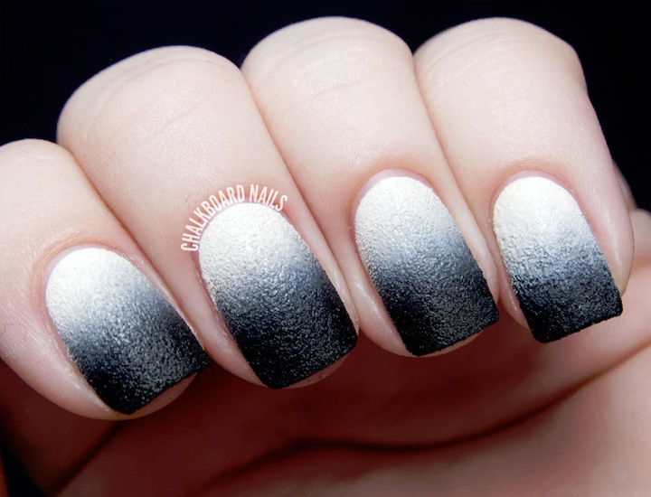 17 Gradient Nails - Awesome black leather gradient.