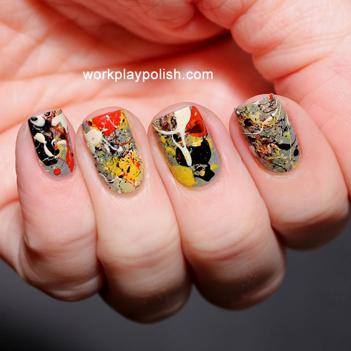 13 Quick and Easy Ways to Save a Chipped Manicure - A splatter effect will easily hide any chipped manicure.