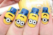 minion nails adorable