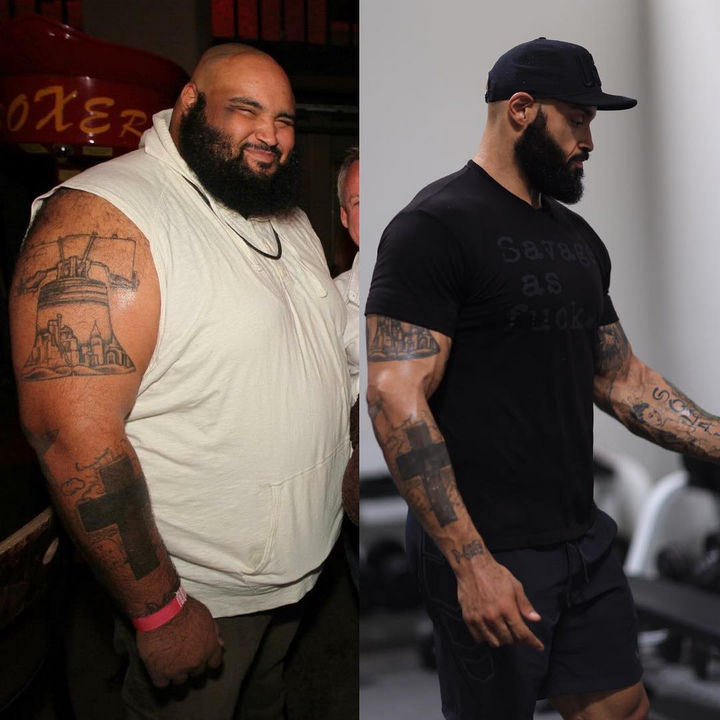 After eating healthy and walking for a full year, Pasquale Brocco lost an astonishing 200 pounds! When he started, he had high-blood pressure, had 58% body fat, and was pre-diabetic. Now he is 275 lbs, has 10% body fat with normal blood pressure and blood glucose levels.
