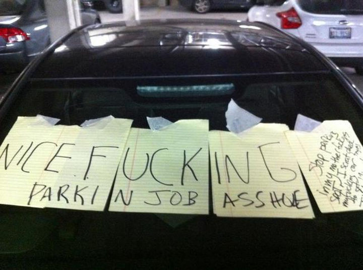 19 Bad Parking Fails - This driver probably wishes they didn't park in his mother's parking spot.