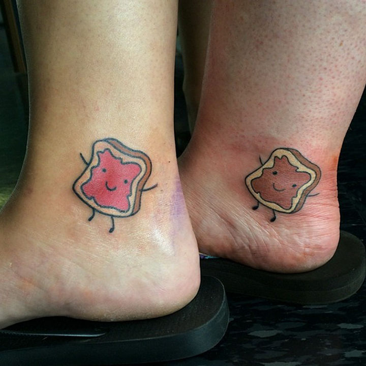 28 Sister Tattoos - Sisters go together like peanut butter and jelly!