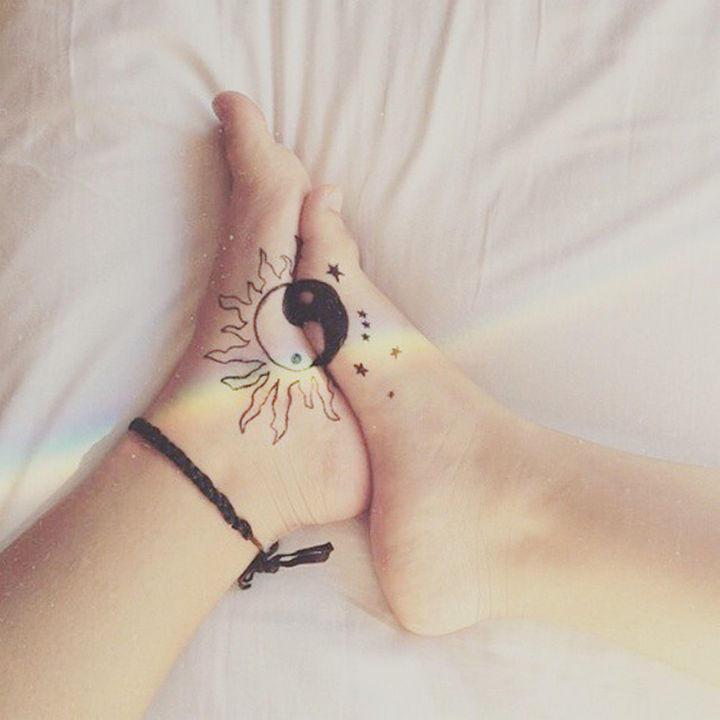 28 Sister Tattoos - The yin to your yang.